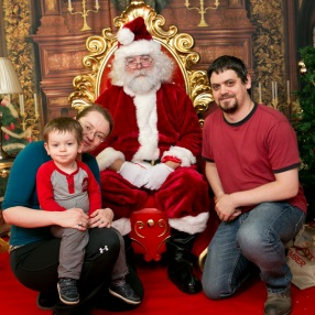 December 2016 (refused to sit with Santa)