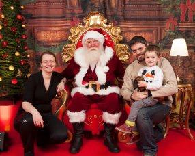 December 2017 (still refusing to sit with Santa)