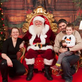 December 2017 (still refusing to sit with Santa)